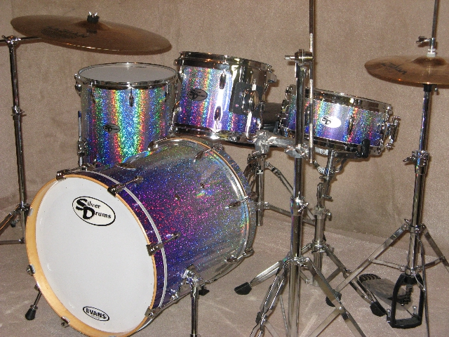 Silver Drums in Canada, Purple/Silver Glitter Fade